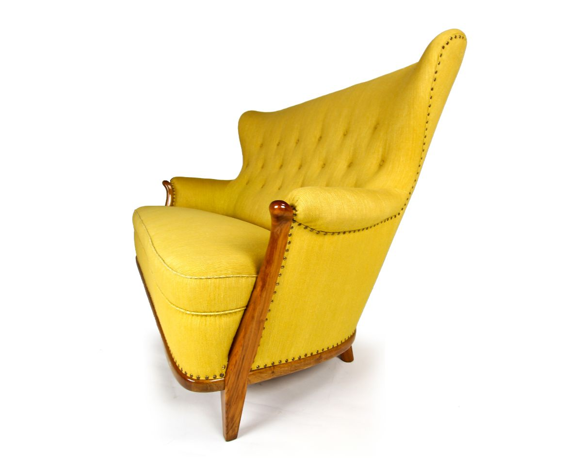 Vintage furniture mid century sofa London yellow 1050's