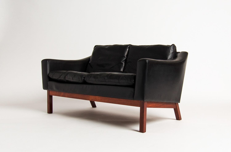 Danish Furniture Uk Leather Sofa Rosewood Mid Century Modern
