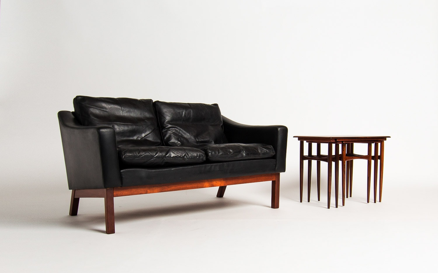 Mid Century Sofa Danish Furniture Uk Leather Rosewood