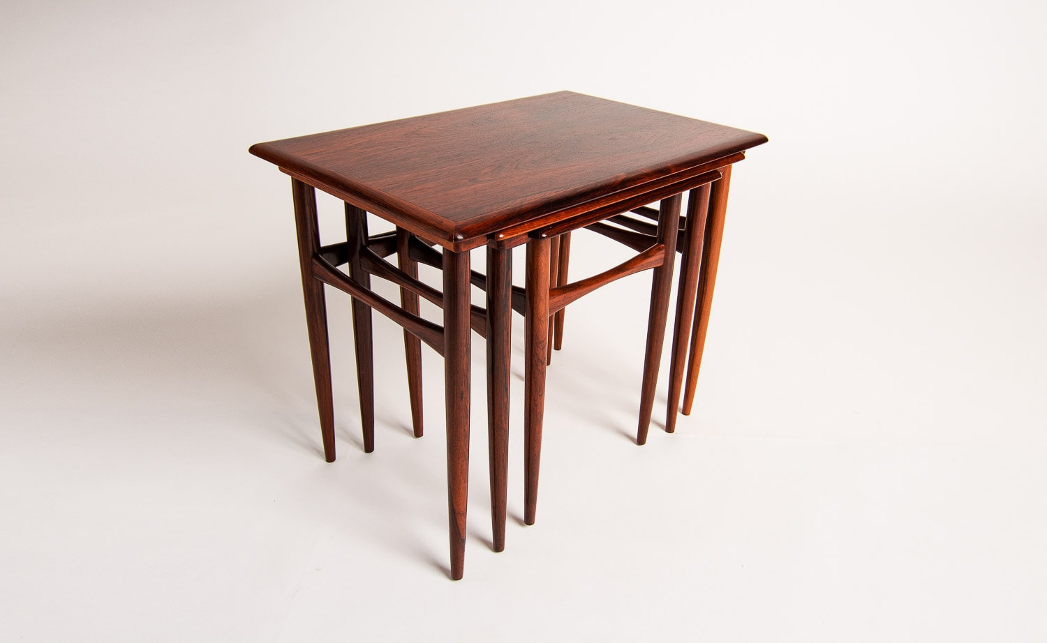 Kai Kristiansen table rosewood nesting coffee side danish 1950's