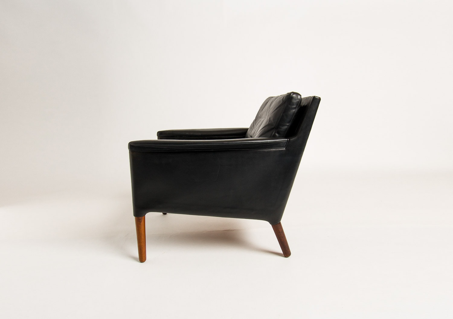 Mid century armchair Danish Rosewwod leather UK 1950's
