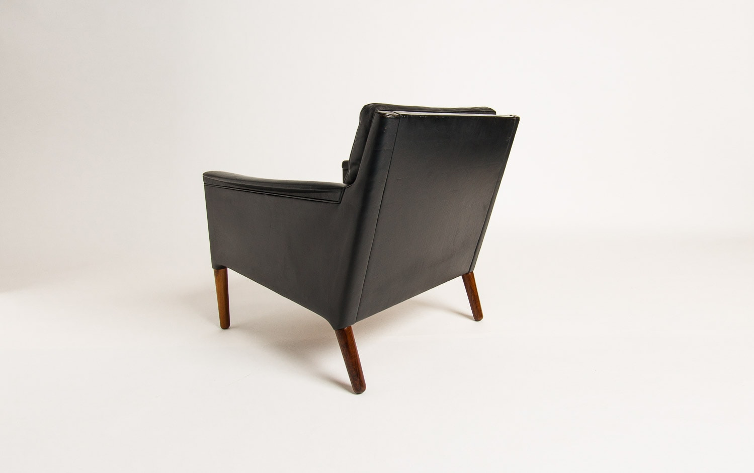 Mid century chair Danish armchair leather rosewood Ostervig 1950's