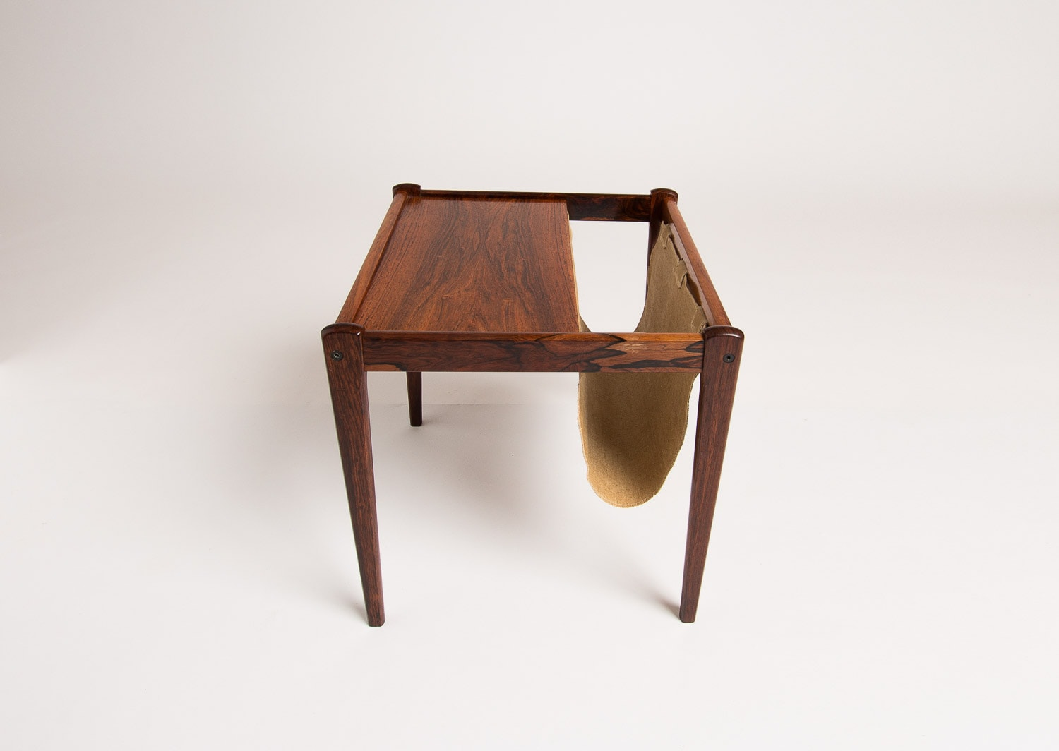 Mid century rosewood side table magazine Danish 1950's