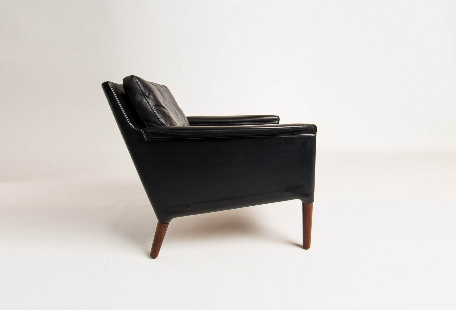 mid century armchair leather rosewood Danish London 1950's