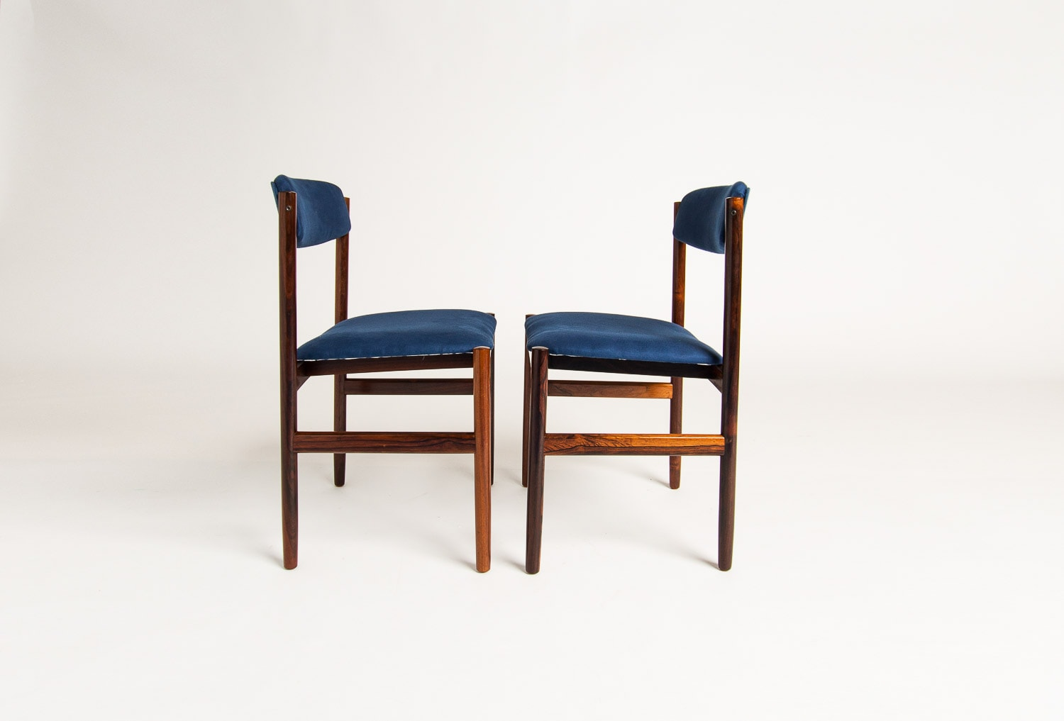 Rosewood dinin g chairs Danish mid centiury 1950's