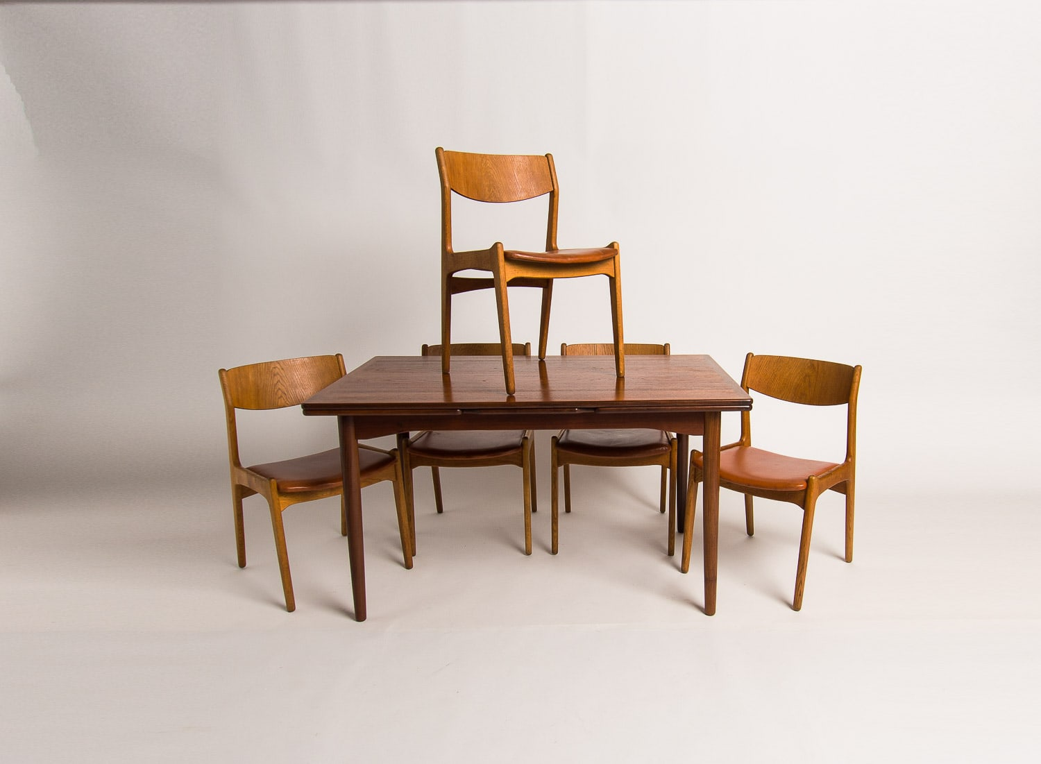 Danish Design dining chairs table mid century London 1950's