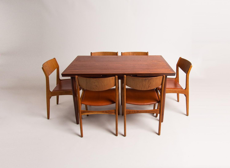 Teak dining table mid century Danish 1950's London